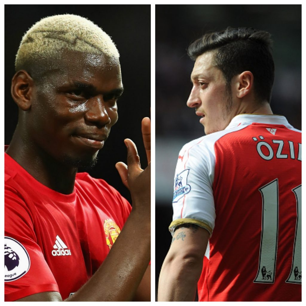 Paul Pogba vs Mesut Ozil